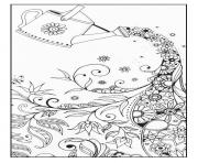 Printable adult magical watering can coloring pages