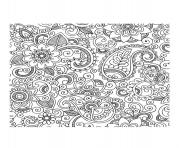 Printable adult paisley iran coloring pages