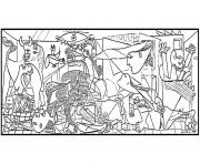 adult picaso guernica coloring pages