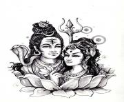 adult shiva sati india coloring pages