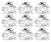 Printable adult bb 8 star wars 7 the force awakens bb8 robot coloring pages