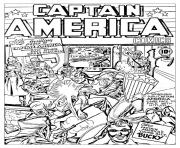 Printable adult captain america vs hitler coloring pages