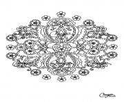Printable free mandala difficult adult to print 15 coloring pages