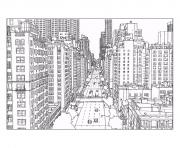 Printable adult new york 1st avenue and east 60th street in manhattan source steve mcdonald coloring pages