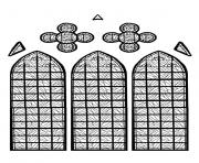 Printable adult stained glass chapelle chateau yverdon les bains france version 2 coloring pages