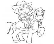 dora horse coloring pages