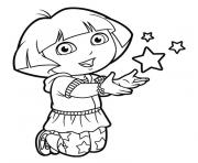 dora stars happy coloring pages