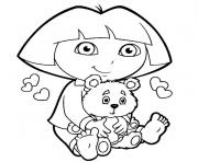 Printable Dora Explorer Coloring Pages