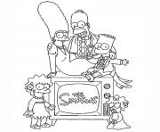 Print the simpson family coloring pages