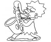Print lisa simpson coloring pages