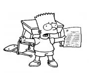 Print bart simpson coloring pages