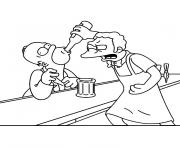 Printable moe szyslak simpson coloring pages
