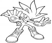 Print he is like iron man sonic version coloring pages