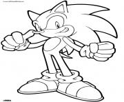 Sonic Cool Look Great Coloring Pages