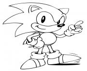 Printable sonic look there bro coloring pages