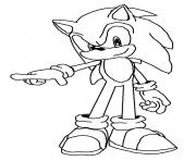 Printable check sonic he is fast coloring pages
