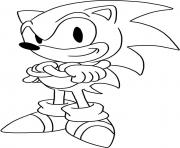 Printable easy sonic free download coloring pages