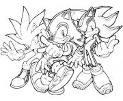 Print the sonic team coloring pages