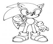 Printable sonic is determinated coloring pages
