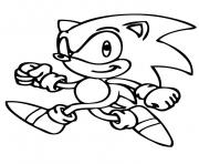 Printable sonic is running coloring pages