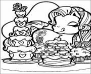Printable my little pony love cupcakes coloring pages