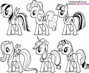 Printable my little pony fluttershy rarity pinkie pie rainbow dash coloring pages
