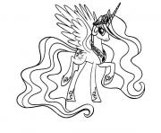 Printable my little pony cool princess celestia coloring pages