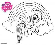 Printable rainbow dash little pony coloring pages