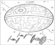 Printable star wars death star coloring pages