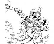 Printable star wars bounty hunter coloring pages