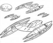 Printable star wars spaceships coloring pages