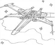 Printable star wars x wing fighter coloring pages