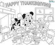 Printable disney thanksgiving coloring page for kidsefec coloring pages