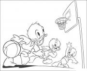 Printable disney cartoon basketball c1e1 coloring pages
