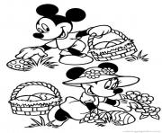 Printable easter  disney mickey and minnie mouse0ddb coloring pages