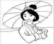 Print mulan  disney cartoon3e48 coloring pages
