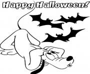 Printable halloween  dog pluto disneya33f coloring pages