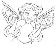 Print fairy free halloween  disneya02a coloring pages