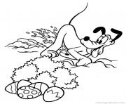 Printable easter  disney pluto765c coloring pages