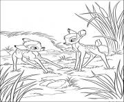 Printable cartoon disney bambi cabf coloring pages