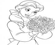 Printable belle princess  for girls disney2434 coloring pages