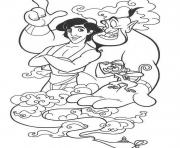 Print abu genie and aladdin  disney7665 coloring pages