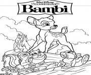 disney bambi 7549 coloring pages