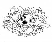 Printable Dalmation Disney For Christmas Coloring Pagebd67 Pages