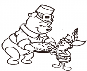 thanksgiving  disney winnie the pooheeae coloring pages