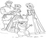 Printable frozen family4eec coloring pages