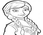Printable anna frozenb825 coloring pages
