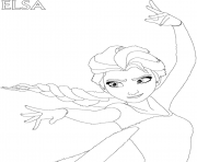 Printable frozen elsa dd28 coloring pages