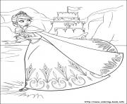 Printable elsa sailed away from a dangerous boat coloring pages