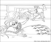 Printable Queen Anna of Arendelle is weakened by smoking coloring pages